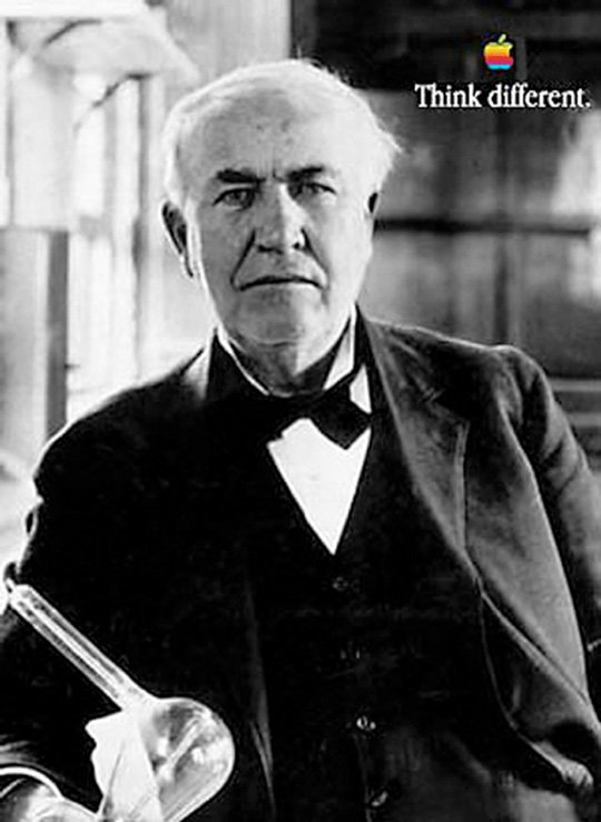 Thomas Edison - think different