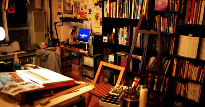 """My room of My Studio (PaintMonster ArtStudio)"" by Marty Ito"