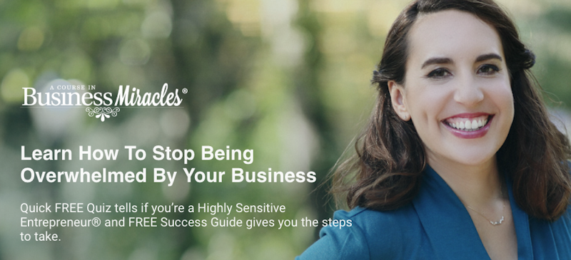 Free Highly Sensitive Entrepreneur quiz and Success Guide