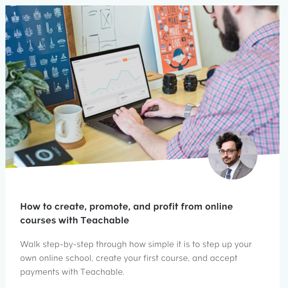 Teachable online course creation and publishing