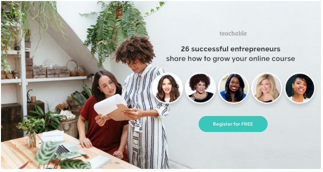 Women Who Create summit by Teachable