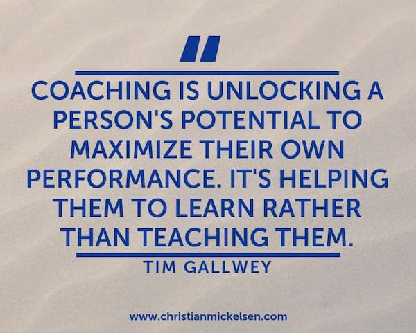 coaching is unlocking quote