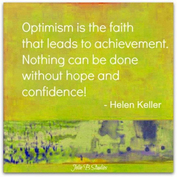 optimism quote by Helen Keller from JolieB